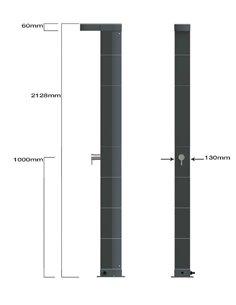 PISCINA DE ACERO OVALADA HASTA 1000x500x132 cm | HAITI - GRE