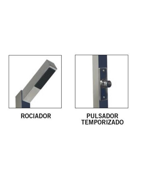 DUCHA DE ACERO TEMPORIZADA | ASTRALPOOL