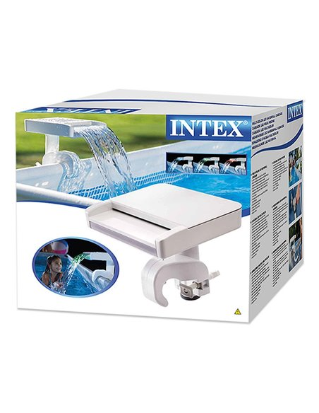 CASCADA DE AGUA CON LUCES LED MULTICOLOR | INTEX