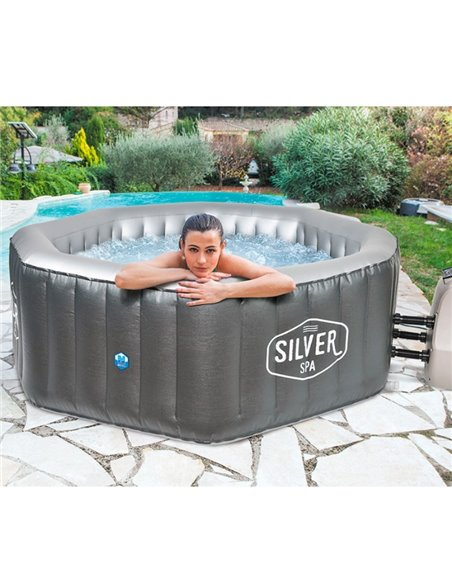 SPA OCTOGONAL HINCHABLE SILVER | NETSPA