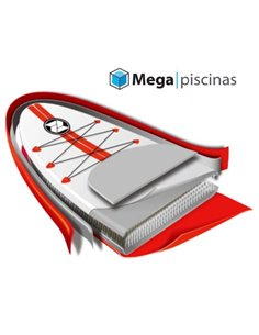 PISCINA DE MADERA OVALDA 672x472x146 GRE | VERMELA