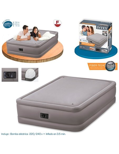 CAMA HINCHABLE FOAM TOP 152x203x51