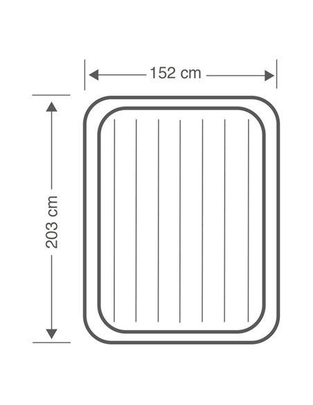 CAMA HINCHABLE DURA-BEAM BASIC ESSENTIAL QUEEN 152x203x51 | INTEX