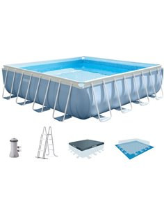 PISCINA SEQUOIA PANEL MADERA  478X124 (8 PERSONAS)