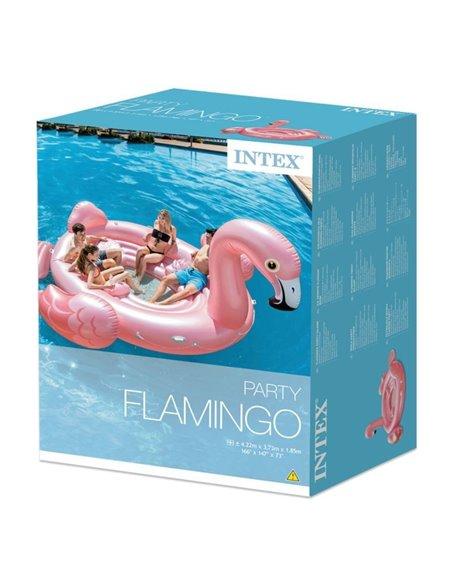 COLCHONETA HINCHABLE XXL ISLA FLAMINGO PARTY  | INTEX
