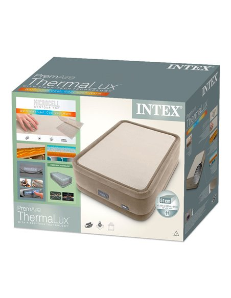 CAMA HINCHABLE DURA-BEAM PREMAIRE THERMALUX | INTEX