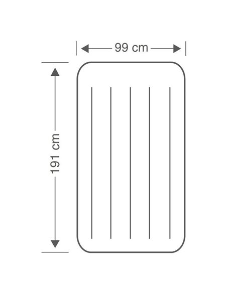 COLCHÓN HINCHABLE PILLOW REST CLASSIC 99x191x25 | INTEX