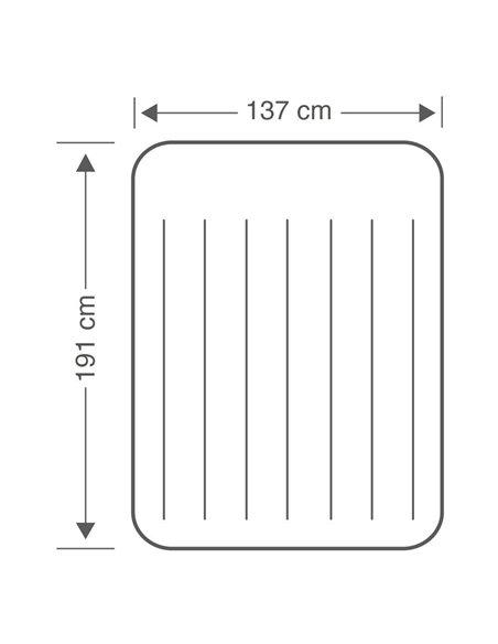 COLCHÓN HINCHABLE DOBLE PILLOW REST CLASSIC 137x191x25 | INTEX