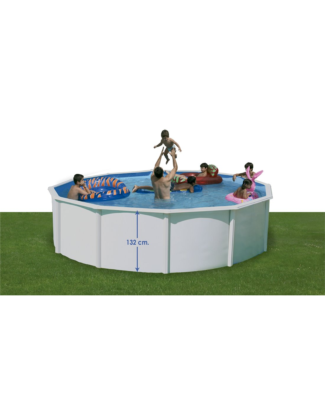 Piscina hinchable familiar con asientos megapiscinas - Piscina hinchable con asientos ...