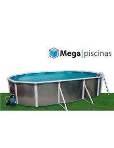 PISCINA HINCHABLE BLANCA Y VERDE 262x175x56