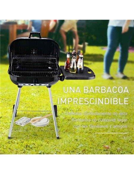 BARBACOA DE CARBÓN 96x60x83CM | OUTSUNNY