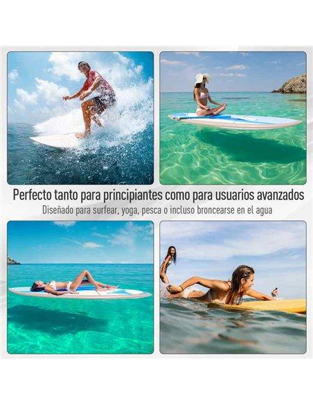 TABLA DE PADDLE SURF HINCHABLE 305x76x10 CM | HOMCOM A33-006
