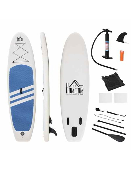 TABLA DE PADDLE SURF HINCHABLE 305x80x15 CM | HOMCOM A33-013BU