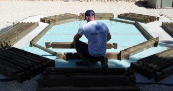 montaje piscina de madera