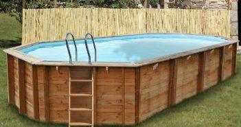 Estrenando piscina de madera